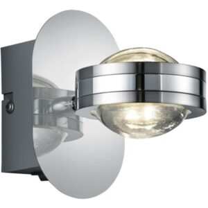 LED Wandlamp - Wandverlichting - Trion Lintel - 4W - Warm Wit 3000K - Rond - Mat Chroom - Aluminium-1