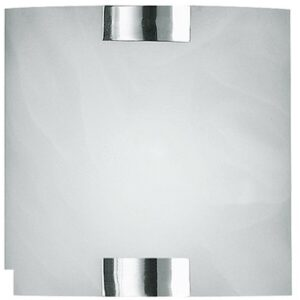 LED Wandlamp - Wandverlichting - Trion Mata - E14 Fitting - Vierkant - Mat Chroom - Aluminium-1