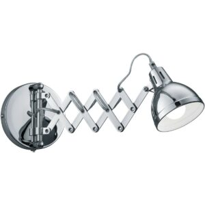 LED Wandlamp - Wandverlichting - Trion Sicano - E14 Fitting - Rond - Mat Chroom - Aluminium-1