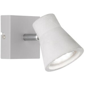 LED Wandspot - Trion Antyna - GU10 Fitting - 3W - Warm Wit 3000K - Rond - Beton Look - Aluminium-1