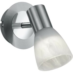 LED Wandspot - Trion Levino - E14 Fitting - Warm Wit 3000K - Rond - Mat Nikkel - Aluminium-1