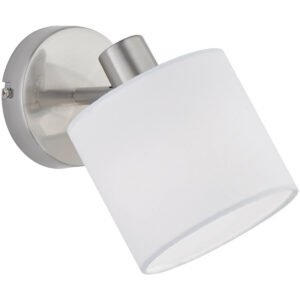 LED Wandspot - Trion Torry - E14 Fitting - Rond - Mat Nikkel - Aluminium-1