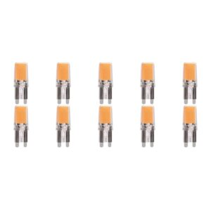 MEGAMAN - LED Lamp 10 Pack - Strimo - G9 Fitting - 2.2W - Warm Wit 2700K | Vervangt 25W-1
