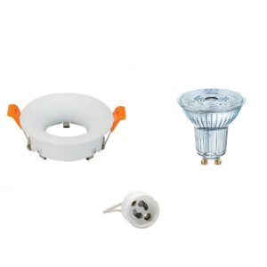 OSRAM - LED Spot Set - Parathom PAR16 930 36D - GU10 Fitting - Dimbaar - Inbouw Rond - Mat Wit - 5.5W - Warm Wit 3000K - Ø85mm-1