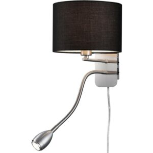 OSRAM - LED Wandlamp - Trion Hotia - E14 Fitting - 3W - Warm Wit 3000K - Rond - Mat Zwart - Aluminium-1