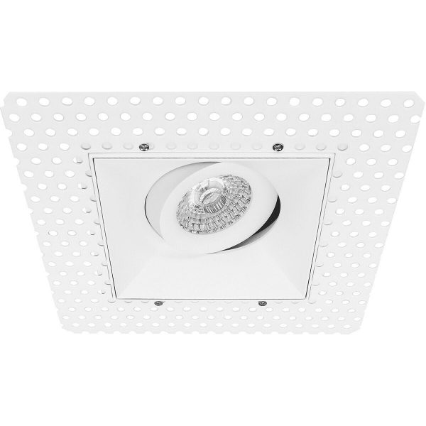 PHILIPS - LED Spot Set - CorePro 827 36D - Pragmi Nivas Pro - GU10 Fitting - Inbouw Vierkant - Mat Wit - 4.6W - Warm Wit 2700K - Trimless - Kantelbaar - 150mm-5