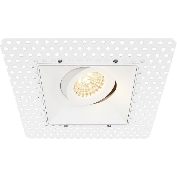 PHILIPS - LED Spot Set - CorePro 827 36D - Pragmi Nivas Pro - GU10 Fitting - Inbouw Vierkant - Mat Wit - 4.6W - Warm Wit 2700K - Trimless - Kantelbaar - 150mm-7