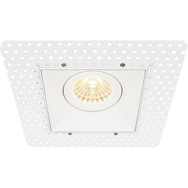 PHILIPS - LED Spot Set - CorePro 827 36D - Pragmi Nivas Pro - GU10 Fitting - Inbouw Vierkant - Mat Wit - 4.6W - Warm Wit 2700K - Trimless - Kantelbaar - 150mm-8