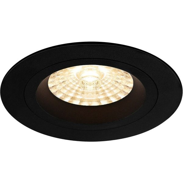 PHILIPS - LED Spot Set - CorePro 827 36D - Pragmi Rodos Pro - GU10 Fitting - Inbouw Rond - Mat Zwart - 4.6W - Warm Wit 2700K - Ø93mm-4
