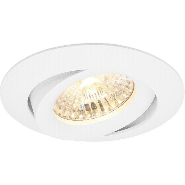 PHILIPS - LED Spot Set - CorePro 827 36D - Pragmi Uranio Pro - GU10 Fitting - Inbouw Rond - Mat Wit - 4.6W - Warm Wit 2700K - Kantelbaar - Ø82mm-5