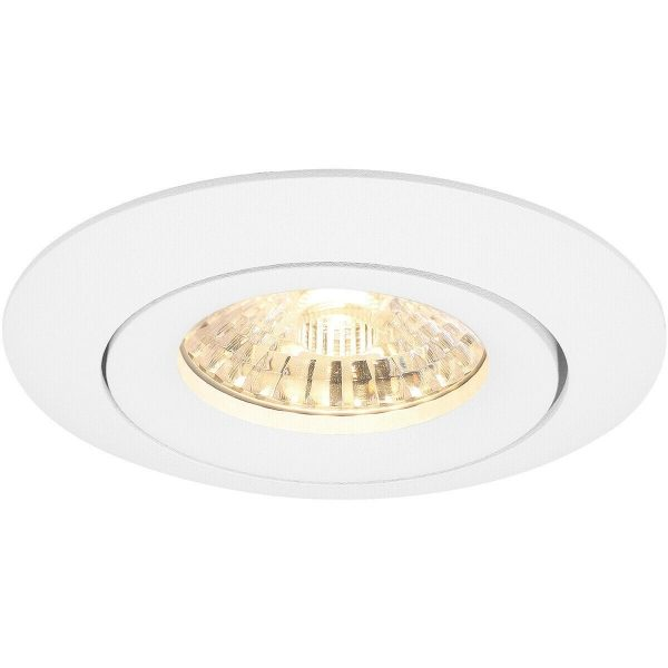 PHILIPS - LED Spot Set - CorePro 827 36D - Pragmi Uranio Pro - GU10 Fitting - Inbouw Rond - Mat Wit - 4.6W - Warm Wit 2700K - Kantelbaar - Ø82mm-6