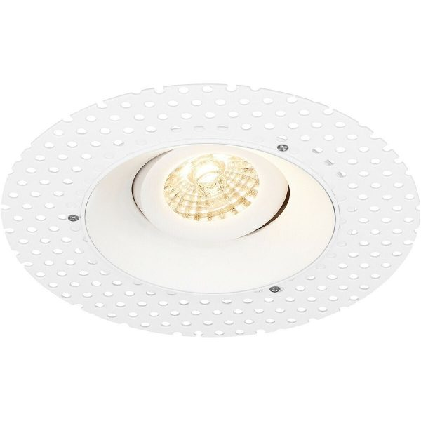 PHILIPS - LED Spot Set - CorePro 830 36D - Pragmi Nivas Pro - GU10 Fitting - Dimbaar - Inbouw Rond - Mat Wit - 4W - Warm Wit 3000K - Trimless - Kantelbaar - Ø150mm-6