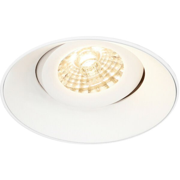 PHILIPS - LED Spot Set - CorePro 830 36D - Pragmi Nivas Pro - GU10 Fitting - Inbouw Rond - Mat Wit - 4.6W - Warm Wit 3000K - Trimless - Kantelbaar - Ø150mm-4