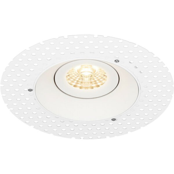 PHILIPS - LED Spot Set - CorePro 830 36D - Pragmi Nivas Pro - GU10 Fitting - Inbouw Rond - Mat Wit - 4.6W - Warm Wit 3000K - Trimless - Kantelbaar - Ø150mm-8