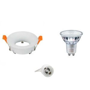 PHILIPS - LED Spot Set - MASTER 927 36D VLE - GU10 Fitting - DimTone Dimbaar - Inbouw Rond - Mat Wit - 4.9W - Warm Wit 2200K-2700K - Ø85mm-1