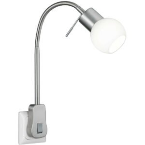 Stekkerlamp Lamp - Trion Frido - G9 Fitting - 3W - Warm Wit 3000K - Dimbaar - Mat Nikkel - Aluminium-1