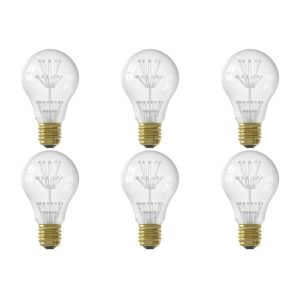 CALEX - LED Lamp 6 Pack - Pearl A60 - E27 Fitting - 1W - Warm Wit 2100K - Transparant Helder-1