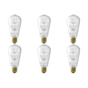 CALEX - LED Lamp 6 Pack - Pearl ST64 - E27 Fitting - 2W - Warm Wit 2100K - Transparant Helder-1