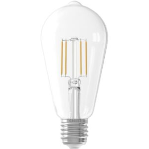 CALEX - LED Lamp - Filament ST64 - E27 Fitting - 6W - Warm Wit 2700K - Transparant Helder-1