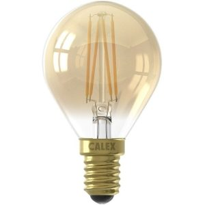 CALEX - LED Lamp - Kogellamp P45 - E14 Fitting - 3W - Dimbaar - Warm Wit 2100K - Goud-1