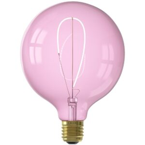 CALEX - LED Lamp - Nora Quartz G125 - E27 Fitting - Dimbaar - 4W - Warm Wit 2000K - Roze-1