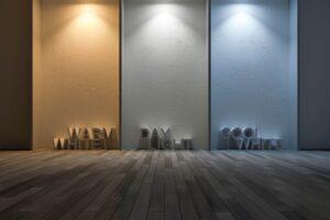 Een visueel beeld van wat warm, dag of wit licht is op basis van Kelvin