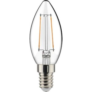 LED Lamp - Filament - Sanola Syno - 2W - E14 Fitting - Warm Wit 2700K - Transparent Helder - Glas-1