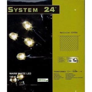 System-24 koppelbare netverlichting 140 lamps warm wit