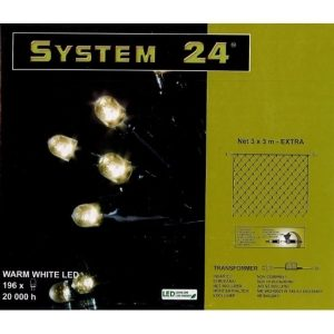 System-24 koppelbare netverlichting 196 lamps warm wit