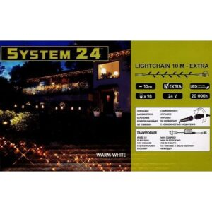 System-24 koppelbare verlichting 98 lamps warm wit
