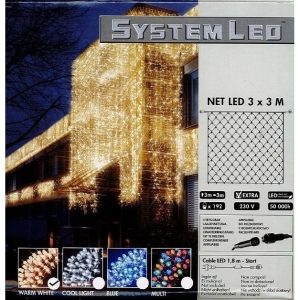 System-Led 230 V.Netverlichting 192 lamps warm wit