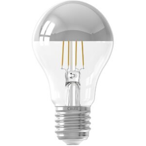 CALEX - LED Lamp - Kogelspiegellamp Filament A60 - E27 Fitting - 4W - Warm Wit 2300K - Chroom-1