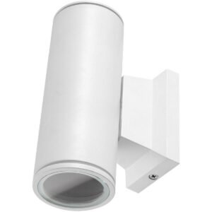 LED Tuinverlichting - Buitenlamp - Aigi Wally Up and Down - GU10 Fitting - 2-lichts - Mat Wit - Rond - Aluminium-1