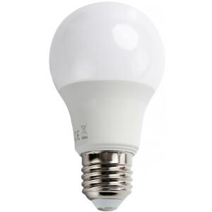 LED Lamp - Dag en Nacht Sensor - Aigi Lido - A60 - E27 Fitting - 8W - Warm Wit 3000K - Wit-1