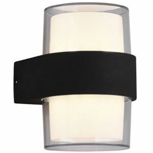 LED Tuinverlichting - Wandlamp Buitenlamp - Trion Mollo Up and Down - 8W - Warm Wit 3000K - 2-lichts - Rond - Mat Antraciet - Aluminium-1